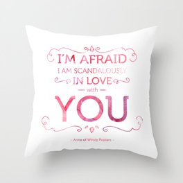 Scandalously in Love (With You) Throw Pillow