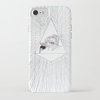 all seeing eye iPhone & iPod Cases featuring All Seeing Eye by Rachel Hoffman