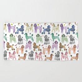 Poodles by Veronique de Jong Beach Towel