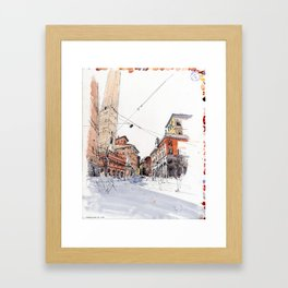 Bologna towers Framed Art Print