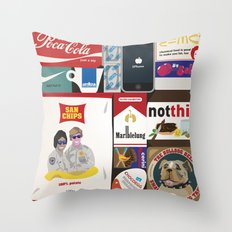 Consumption of goods Throw Pillow