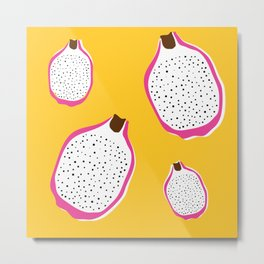 Bright Dragonfruit Print Metal Print