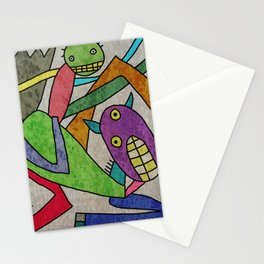 Horse and man Stationery Cards