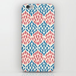 Organic pattern red and blue. iPhone Skin