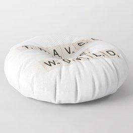 Travel the world Floor Pillow