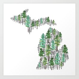 Michigan Forest Art Print