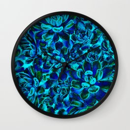 Floral tribute [blue velvet] Wall Clock