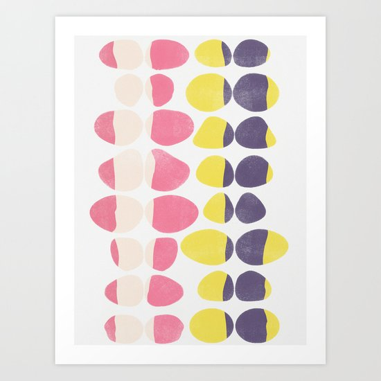 Painted Pebbles 3 Art Print