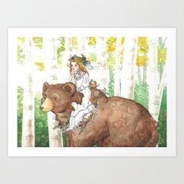 Bear Maiden Art Print