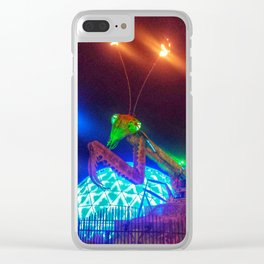 Neon Mantis Clear iPhone Case