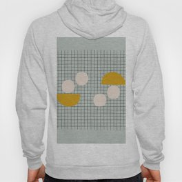 Abstract Shapes in Mint and Yellow Hoody