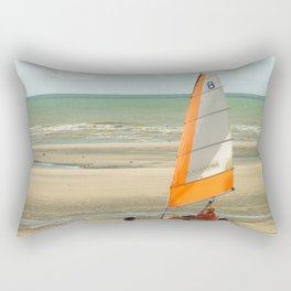 char à voile, le Touquet  Rectangular Pillow