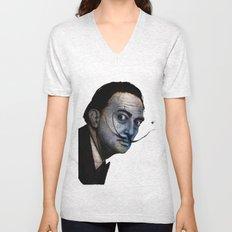 Salvador Dalí. (colored version) Unisex V-Neck