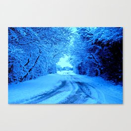 Winter in the Cotswolds Canvas Print