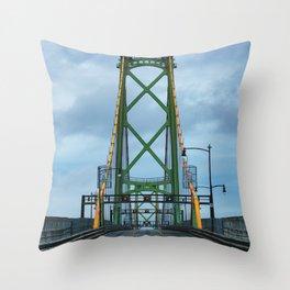 MacDonald Bridge Throw Pillow