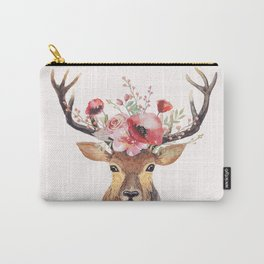 Bohemian Deer Carry-All Pouch