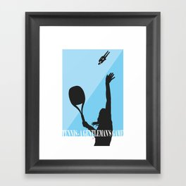 Tennis - A Gentleman's Game by Jeppe K Ringsted Framed Art Print