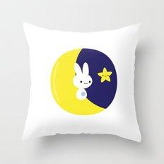 Moonbunny Throw Pillow