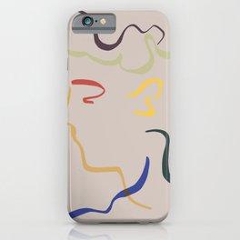 Rhett modern line drawing portrait iPhone Case