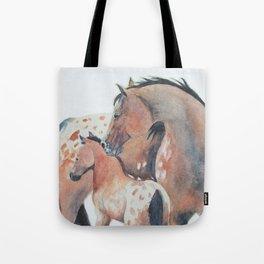 Mother's Love Appaloosa Horses Tote Bag