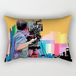 Cameraman Rectangular Pillow