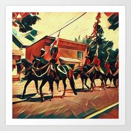 Canada Day Procession Art Print