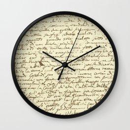 Original Paganini letter Wall Clock