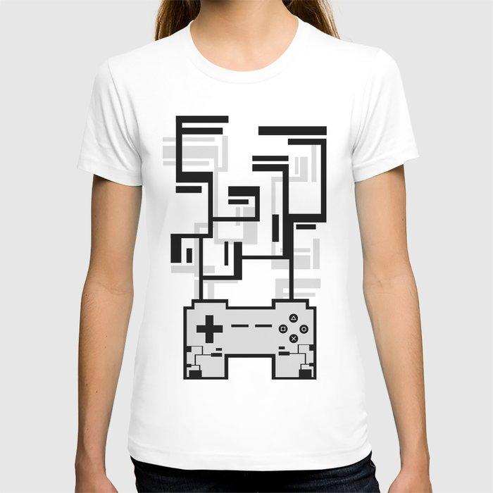 8-BIT JOYSTICK (GREY) T-shirt
