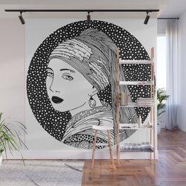 Vermeer - Girl with a pearl earring Wall Mural