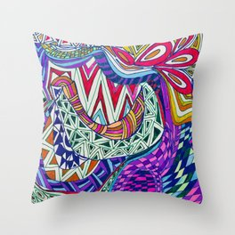 A Wonderland of Color and Fun Throw Pillow