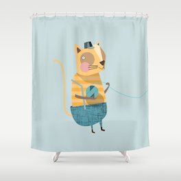 Cats love Knitting Shower Curtain