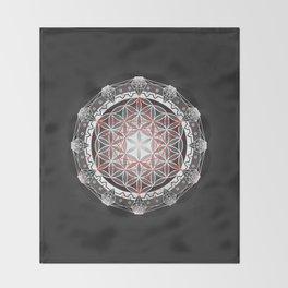 Flower of Life + Metatrons Cube Throw Blanket