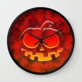 Screaming Pumpkin Wall Clock