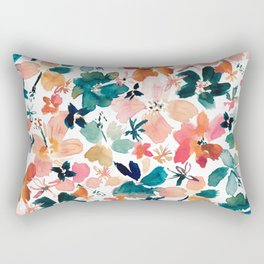ISLAND TIME Tropical Floral Rectangular Pillow