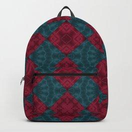Red blue patchwork Backpack
