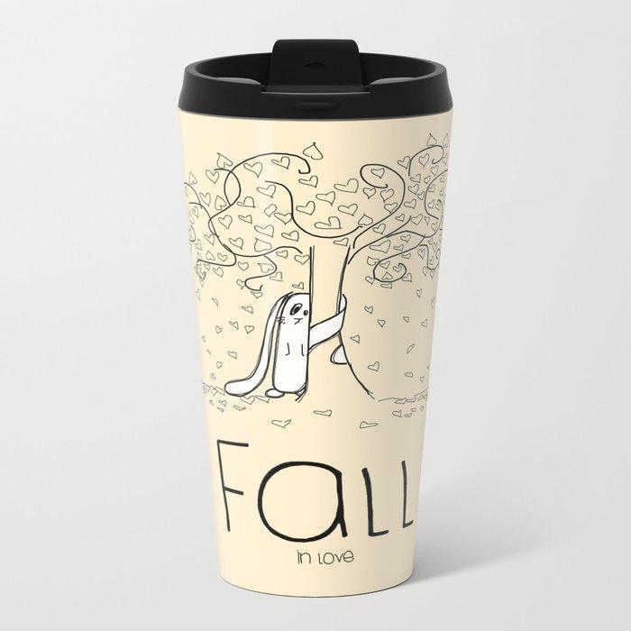 FALL in love Metal Travel Mug