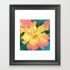 Electric Flower Framed Art Print