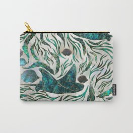 Stingray and Scat fish pattern Abalone Carry-All Pouch