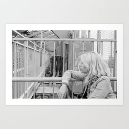 Self-Portrait on the Williamsburg Bridge  Art Print