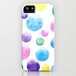 cheerful colorful bubbles iPhone Case