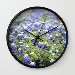 Texas' State Flower Wall Clock