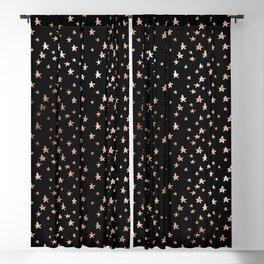 Black & Rose Gold Star Pattern Blackout Curtain