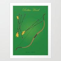 robin hood Art Prints featuring Robin Hood | Fairy Tales by Gabriele Omar Lakhal