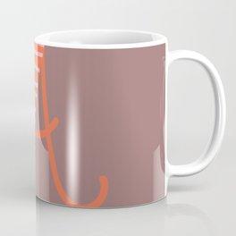 Letter A Monogram Art Print Coffee Mug