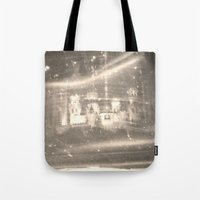 russia Tote Bags featuring Stained Russia by Jeffrey J. Irwin