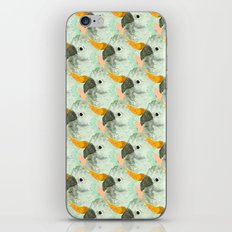 Parrots Print (Coral) iPhone & iPod Skin