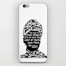 Ida B. Wells-Barnett - Black Lives Matter - Series - Black Voices iPhone Skin
