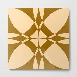 Abstract Circles - Desert Metal Print