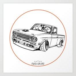 Crazy Car Art 0188 Art Print