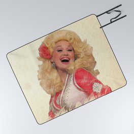 Dolly Parton - Watercolor Picnic Blanket